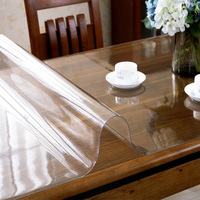 Transparent PVC tablecloth Soft glass matte coffee table mat 2mm thickness Waterproof oilproof plastic table cover customize