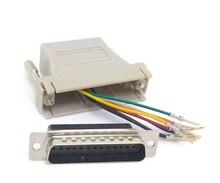 10ชิ้น/ล็อตDB25ชายRJ45หญิงModular Adapter