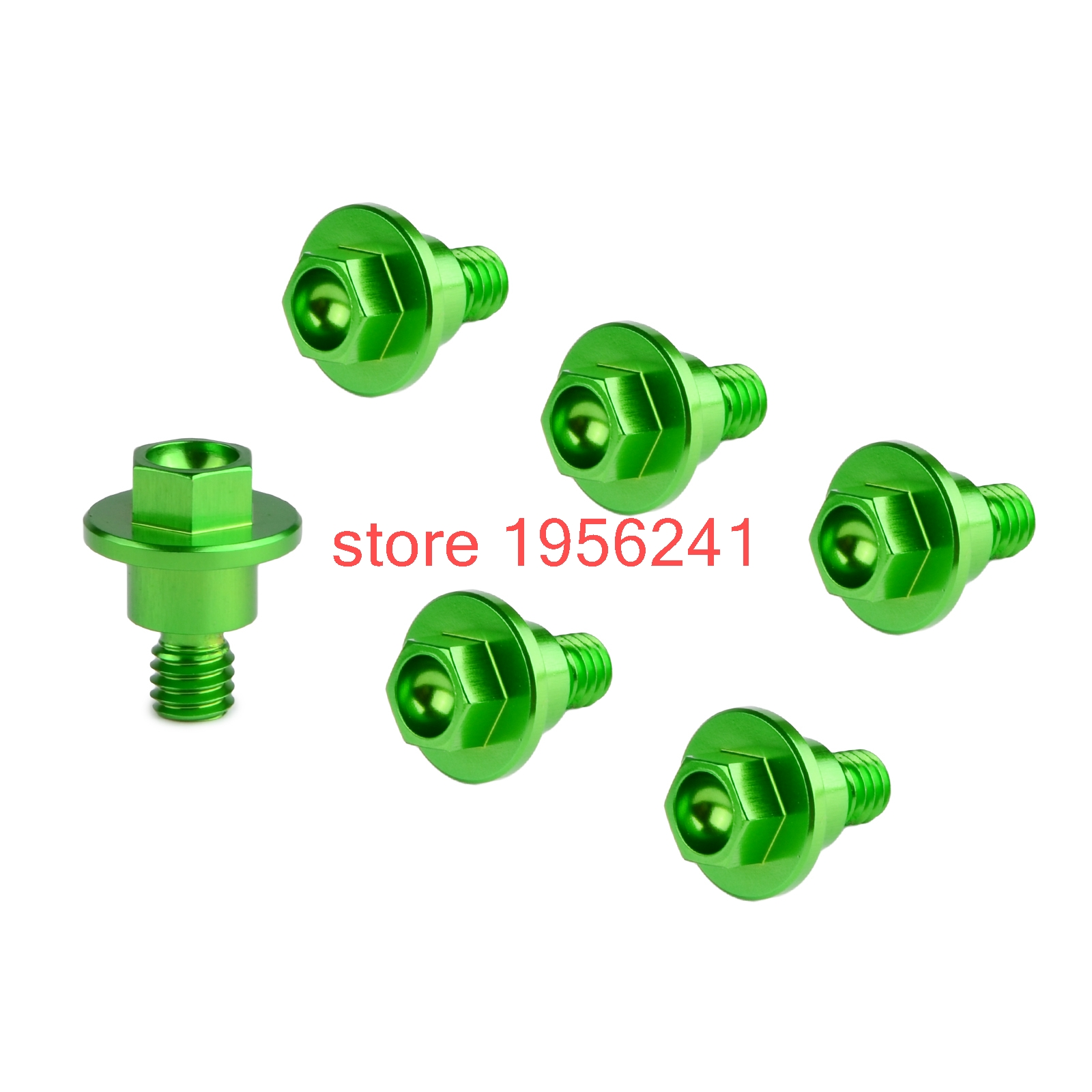 6PCS CNC Front Fork Guard Bolts Screw For Kawasaki KX8 KX85 KX125 KX250 KX250F KX450F KLX450R KLX250 D-Tracker KX 250 450 F
