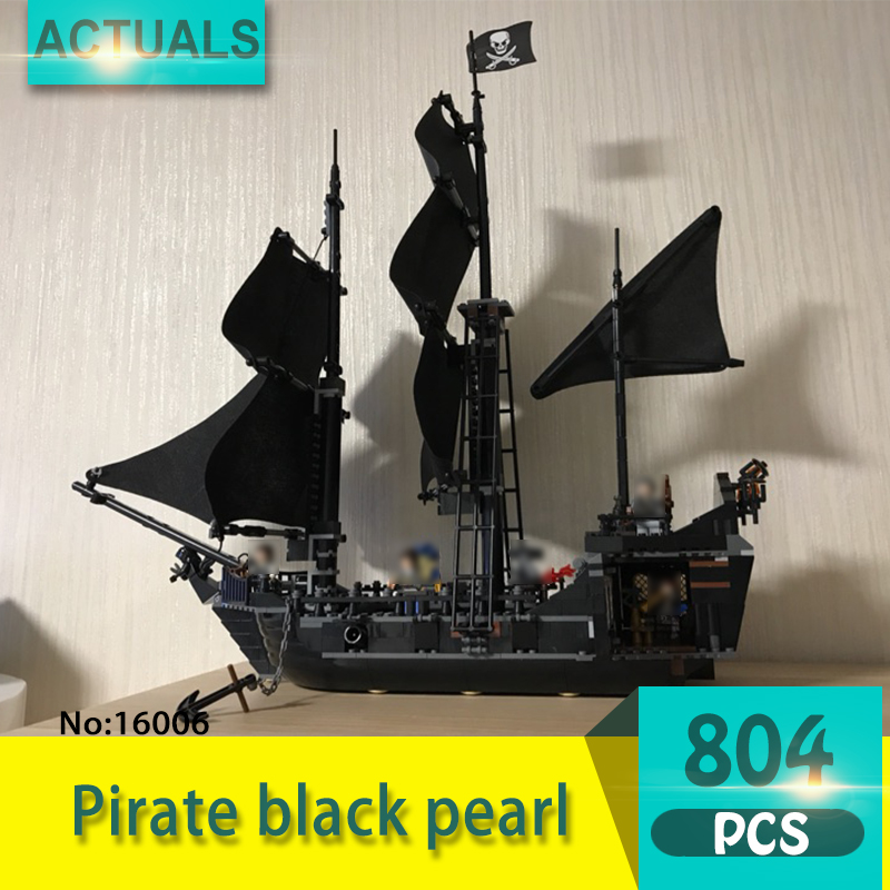 Lepin 16006 804Pcs Movie Series Pirate black pearl Model Building Blocks Set  Bricks Toys For Children Pirate Caribbean Gift lepin 22001 pirate ship imperial warships model building block briks toys gift 1717pcs compatible legoed 10210