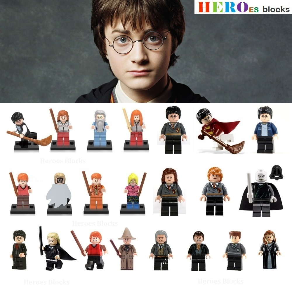1pc Harry Hermione Dumbledore Lord Voldemort Weasley Hogwarts Witchcraft Movie Building Blocks Action Figure Bricks Toy Kid Gift