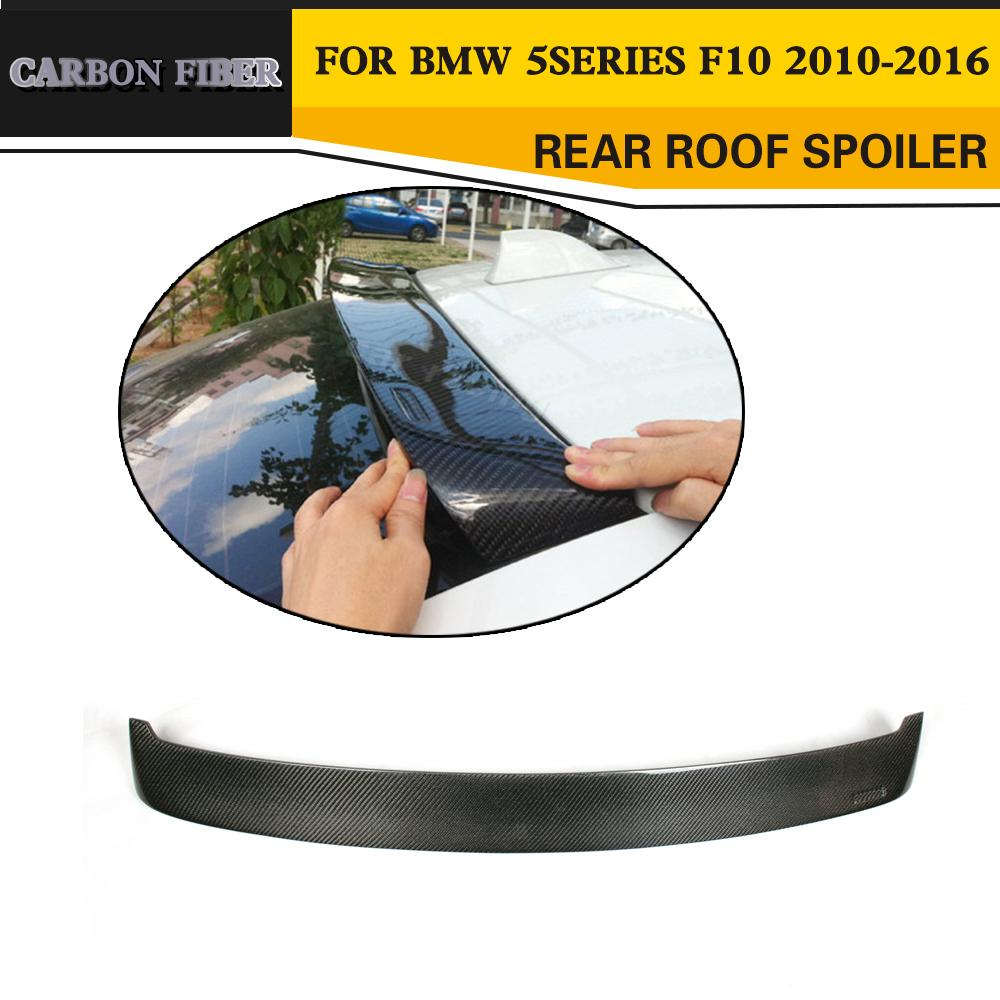 Carbon Fiber Car Roof Spoiler Wing for BMW F10 5 Series 520 523 535 2010-2016 car accessories frp fiber glass origin lab style roof spoiler fit for 1992 1997 rx7 fd3s rear roof wing