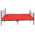 Aingoo 4ft 6 Cama Doble Cama De Metal Marco Sólido Cama Base de Estructura de Acero Inoxidable de Doble Marco de la Cama Negro Hogar muebles