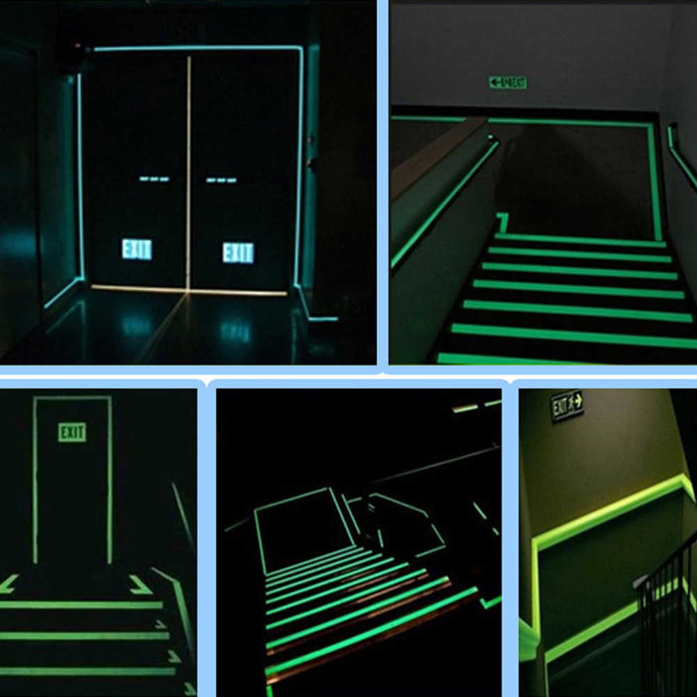 Luminous Tape Night Vision Glow In Dark Self-adhesive Warning Tape Safety Security Home Decoration Tapes