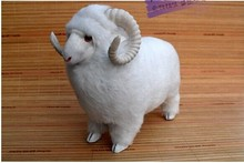 middle size sheep toy creative cute sheep doll lovely white sheep doll gift about 33x15x25cm