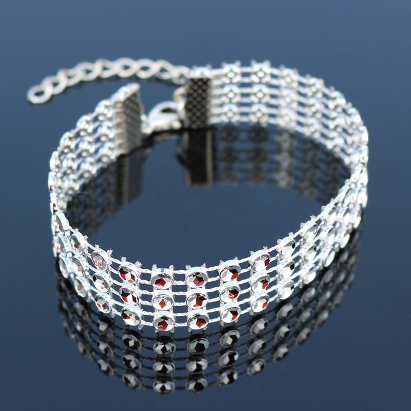 20pcs 3 Row Steampunk Bracelet For Women feminina pulseras mujer Bracelets & Bangles Charm Wedding Engagement Bijoux Wholesale