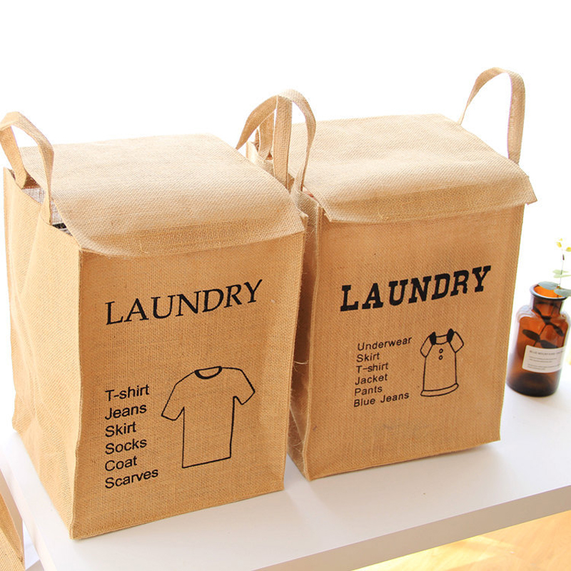 Laundry Bags And Baskets Part - 44: Large Laundry Basket Jute Baskets Fabric Storage Basket For Toys Laundry  Bags For Dirty Clothes Bathroom Hanging Baskets Bins