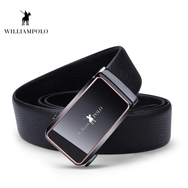Williampolo 2019 100% Natural Leather Luxury Belt Men Waist Automatic Buckle Elegant Designer PL18205-6P