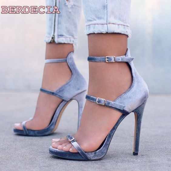 6e2cabf2e9c0 light blue pink valet triple buckle sandals open toe high heel shoes hot  selling woman shoes