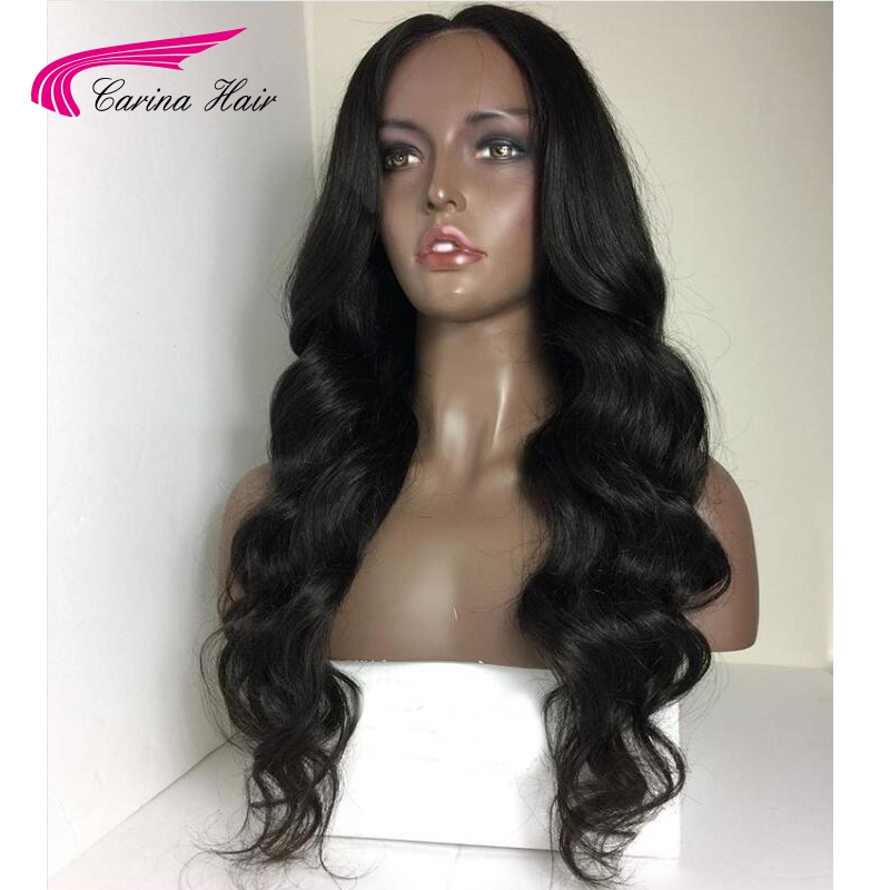 Carina Hair Brazilian Body Wave 4x4 Silk Base Wigs with Baby Hair 130% Full Lace Remy Human Hair Wigs with Pre-Plucked Hairline