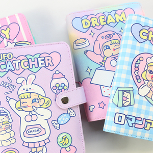 Image 4 - Domikee キャンディかわいい韓国ハードカバー革 6 リングスパイラルバインダープランナーノートブック、かわいい学校のノートブックやジャーナル