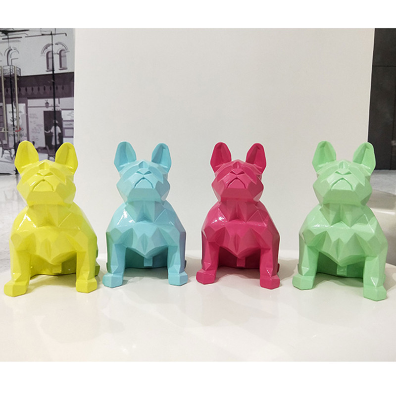 European Style Simulation Animal Geometry Abstraction French Bulldog Resin Action Figure Model Desktop Decoration Toy X232European Style Simulation Animal Geometry Abstraction French Bulldog Resin Action Figure Model Desktop Decoration Toy X232