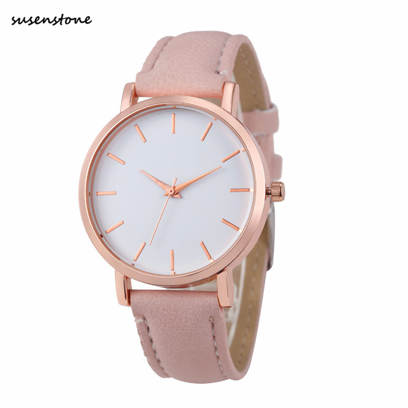 37dcea43f0d Susenstone 2018 Fashion Women Watch Luxury Brand Women Casual Wrist Watch  Ladies Quartz Watch Relogio Feminino