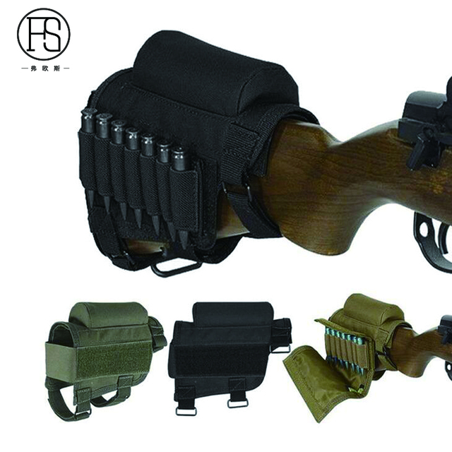 Nylon Tactical Nylon Buttstock Pouch Hunting Shooting Game Rifle Accessories Cheek Shell Cartridges Holder Carrier 1