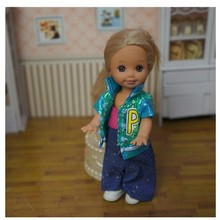 Very cute clothes pant dress for Barbie sister little kelly doll BBI00669B