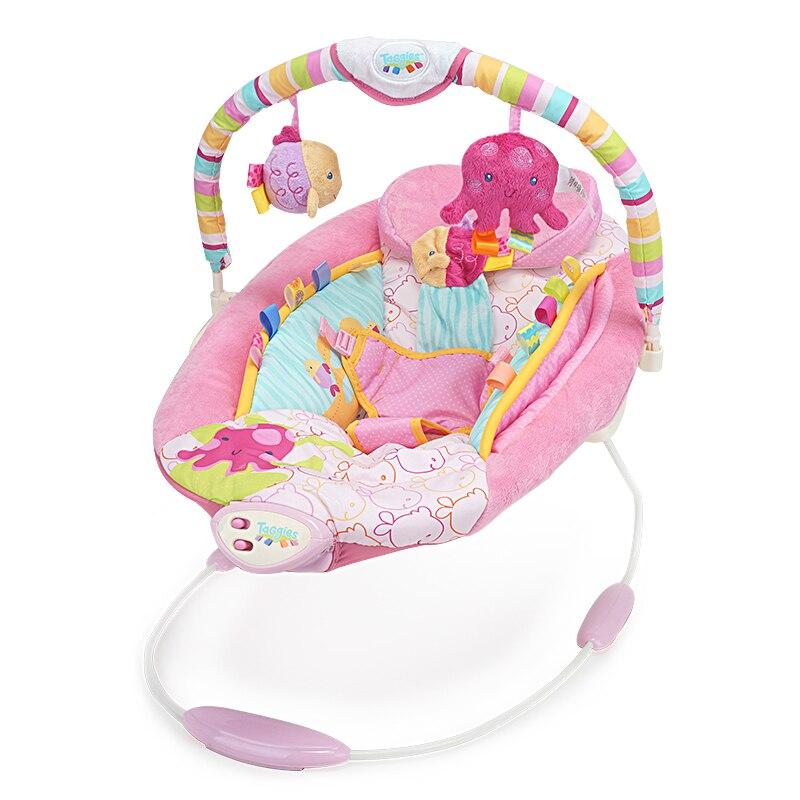 Schommelstoel Baby Roze.Muzikale Prinses Roze Wipstoeltje Wieg Elektrische Baby Schommel
