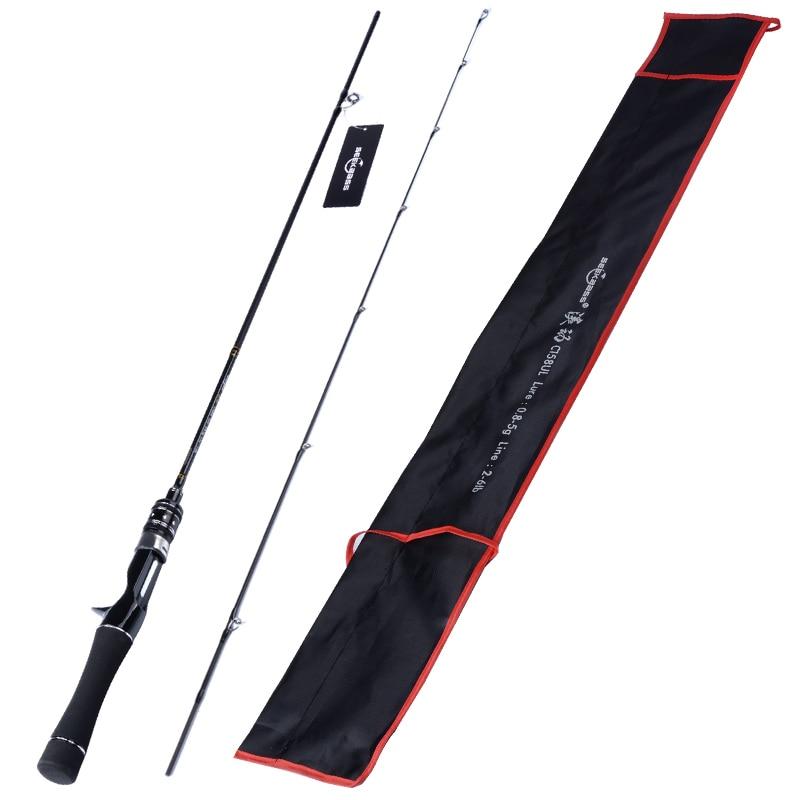 SeekBass flexible ul tige de filature 1.58m1.8m 0.8-5g poids de leurre tiges de filature ultra-légères coulée canne à pêche filature - 6