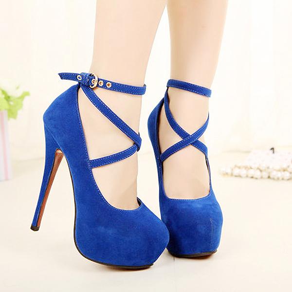 Nuevos Zapatos de tacón alto Mujer Bombas Zapatos de Boda de Las Mujeres de Moda Plataforma Zapatos de Tacón Alto Inferiores Rojos 11 cm de Gamuza