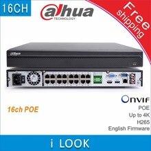 شحن مجاني داهوا DH NVR4216 16P HDS2 استبدال NVR4216 16P 4KS2 16CH POE NVR H265 4 K 8MP شبكة مسجل فيديو IP كاميرا cctv