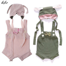 Newborn Baby Girl Clothes Photography Props Hat+Rompers Outfits 2pcs Set Fotografia Accessories Studio Shoot Photo Prop 0-3M цена 2017
