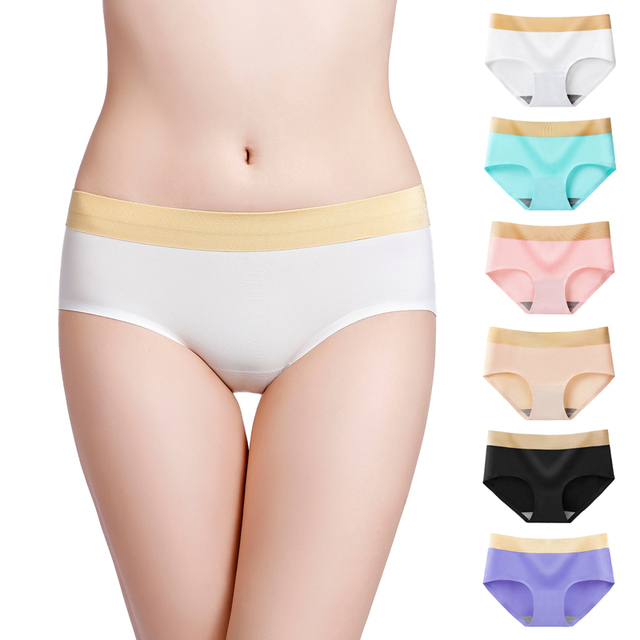 0a112a05ef51 2019 The latest style Women's Panties silky Intimates seamless underwear  triangle of female briefs Super big size M-4XL