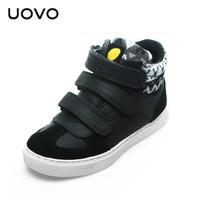 UOVO Winter Children Shoes Boys And Girls Sport Shoes 3 Hook And Loop Kids Shoes High