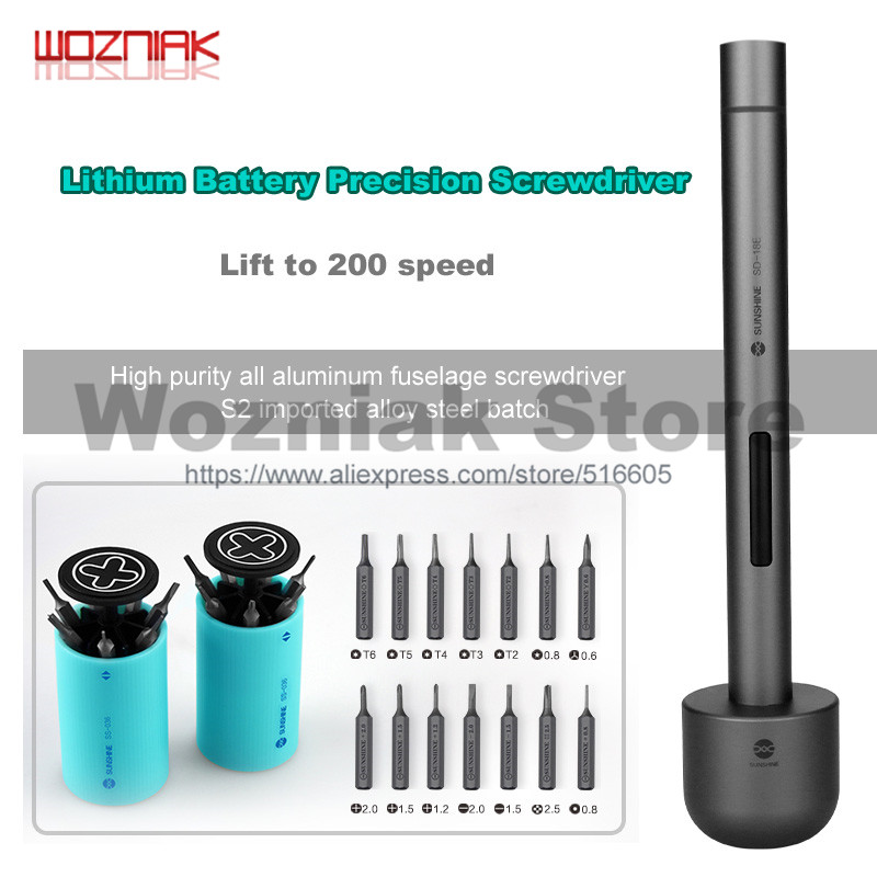 Wozniak New MINI electric screwdriver 14 batches of heads Professional disassembly tool For iPhone 8 8p x Handset Bolt driver стоимость
