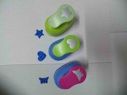 3 uds. (2,5 cm) perforadora de forma de estrella, corazón y mariposa, perforadora de papel escolar envío gratis