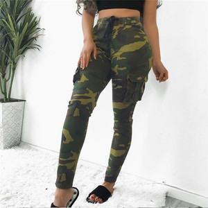 Image 3 - Womens  Camo Cargo Trousers high waist Casual Pants Military Army Combat Camouflage Sports pants women pantalones militar mujer