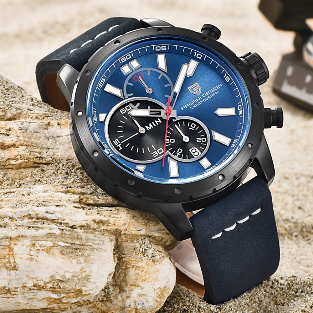 PAGANI DESIGN Brand Luxury Watches Men calendar Chronograph Sports Watches Quartz Watch Reloj Hombre Relogio Masculino clock Men reloj hombre pagani design sport leather strap watches men top brand luxury multifunction quartz watches clock relogio masculino