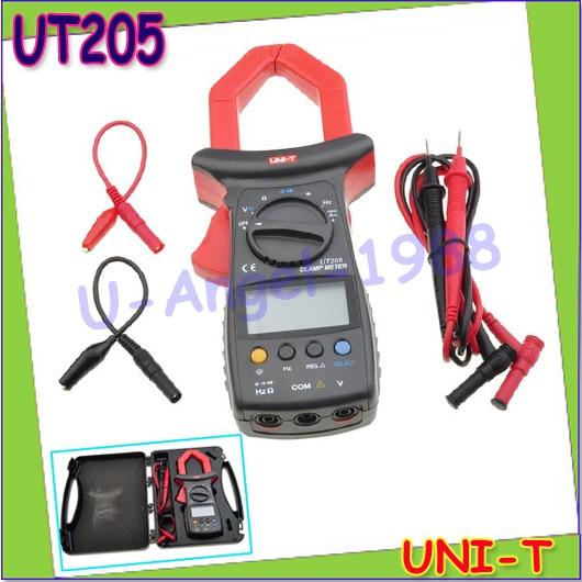 100% New UNI-T UT205 Auto-Ranging AC DC Ture RMS Auto/Manual Range Digital Handheld Clamp Meter Multimeter AC DC Test Tool  цены