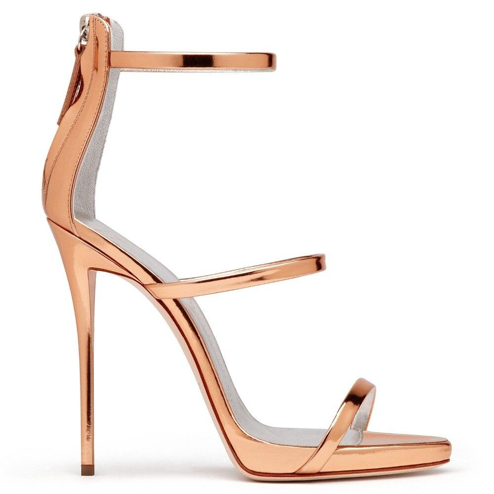 2017 Hot Selling Women Solid Color Narrow Band Open Toe Hollow Out Sandals Summer Fashion Back Zipper High Thin Heel Dress Pumps denim zipper hollow worn stiletto womens sandals