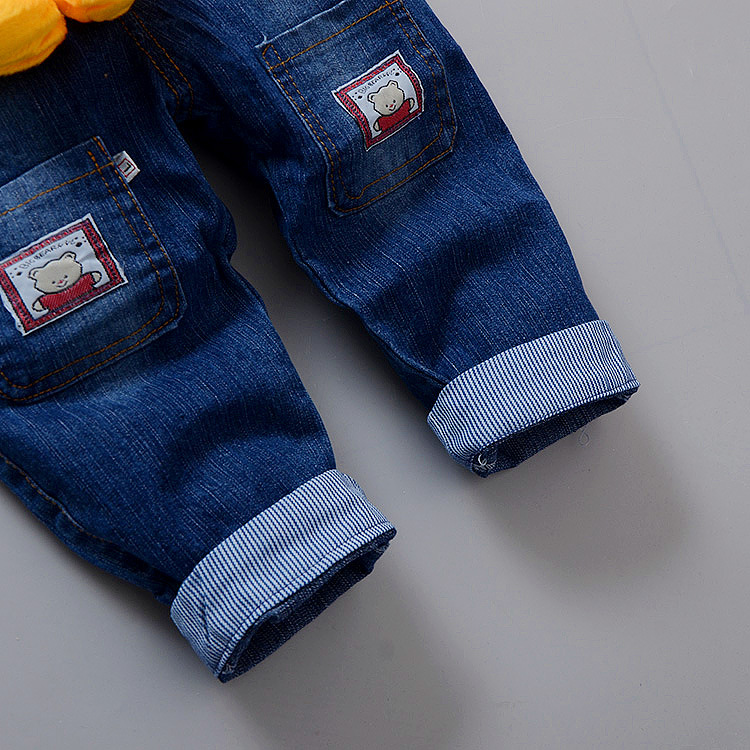 1cacd4a3d1fa Toddler baby Overalls Pants Trousers Infant Denim Jumpsuit Bebe Girl Boys  Jeans Pants Toddler Trousers Spring Auatumn-in Overalls from Mother   Kids  on ...