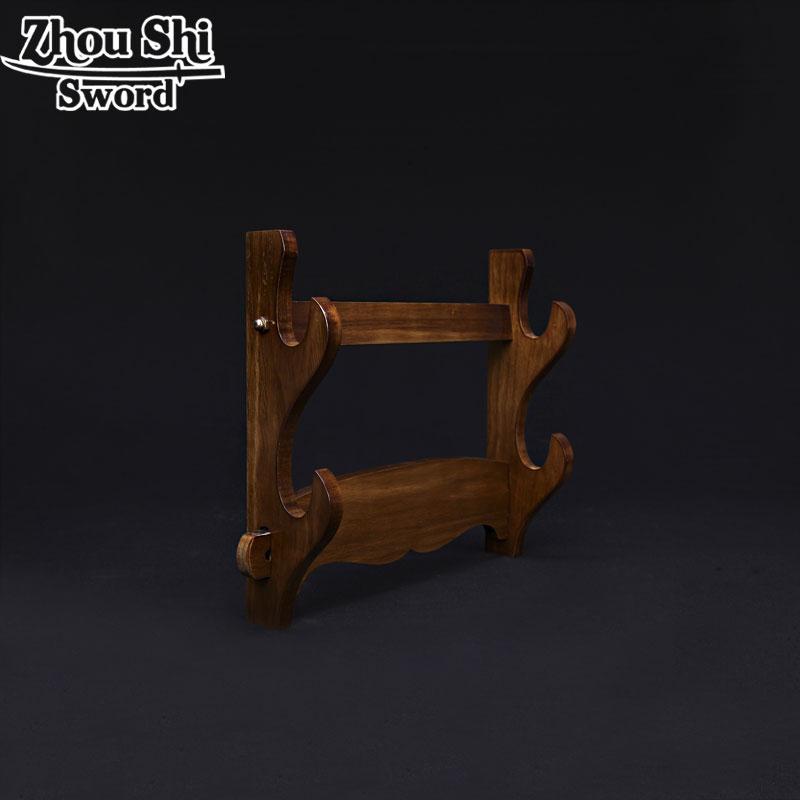 Gancho Da Parede de Suporte Titular Estande Espada Samurai Katana de madeira real 2 Camada