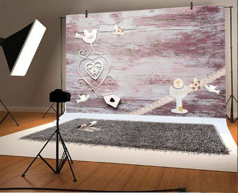 Laeacco Photography Backdrops Planks Paper Cutting Love Heart Pigeon Wooden Board Baby Photographic Background For Photo Studio in Background from Consumer Electronics