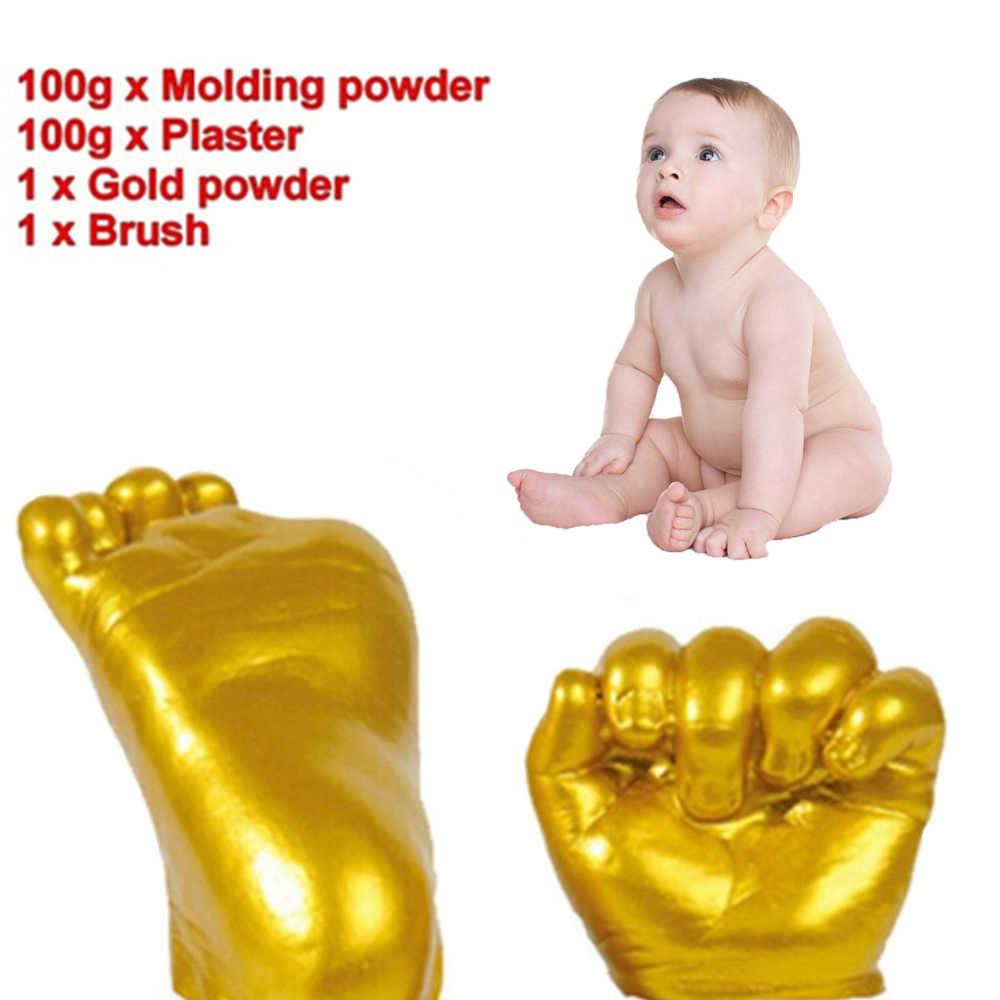 3D пластырь Ладошек следы детские руки ноги литья комплект DIY Keepsake подарок