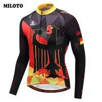 Miloto Men German Cycling Jersey Shirt Tops Road Bike Jersey Clothing Ropa Ciclismo Maillot Riding Outdoor