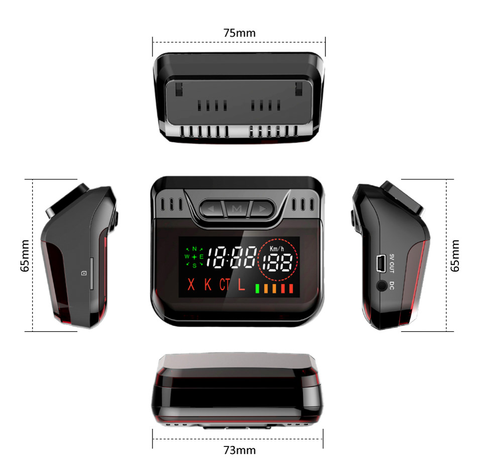 Ruccess STR S900 Radar Detectors Led 2 in 1 Radar Detector for Russia with GPS Car Anti Radars Police Speed Auto X CT K La  (11)