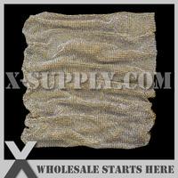 4mm Metal Rhinestone Fabric Mesh Trim,Crystal in Gold Plated Alumminum Mesh,No Glue Backing