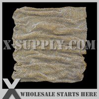 4mm Metal Rhinestone Fabric Mesh Trim,Crystal in Gold Plated Alumminum Mesh,No Glue Backing