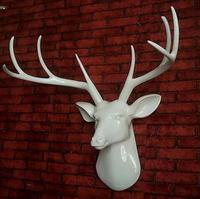 Статуя Limited новый свет черный голова оленя настенный домашний интерьер Club КТВ коридор поле Задний план мягкие украшения, скульптура