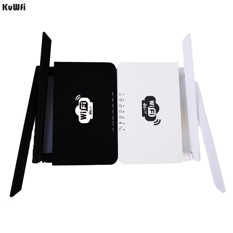 Image 5 - KuWFi Unlocked 300Mbps Wifi Routers 4G LTE CPE Router with LAN Port Support SIM card and Europe/US/Asia/Middle East/Africa-in Wireless Routers from Computer & Office