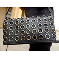 New Fashion Style PU Leather Handbag  Famous Brand Retro Rivet Tote Bag Lady wallet Clutch Female Purse Evening Necessaries Bag