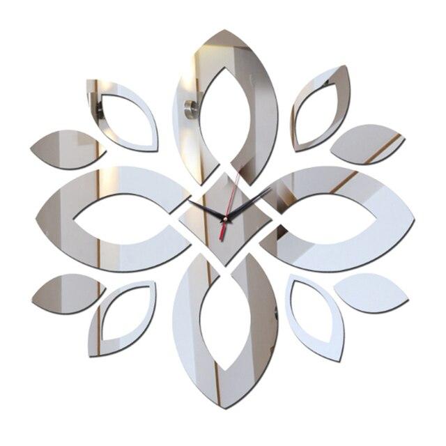 2017 nueva acr lico espejo reloj de pared de dise o - Relojes salon modernos ...