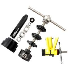Herramientas de bicicleta, prensa de eje central de aleación para bicicletas de montaña, herramienta de desmontaje estático para bicicletas de montaña