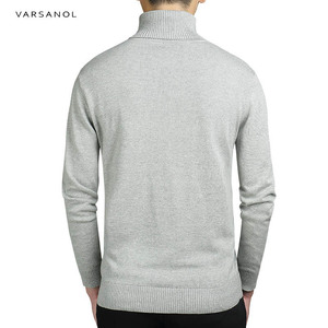 Image 2 - Varsanol Casual Turtleneck Sweater Men Pullovers Autumn Fashion Style Sweater Solid Slim Fit Knitted sweaters Full Sleeve Coats