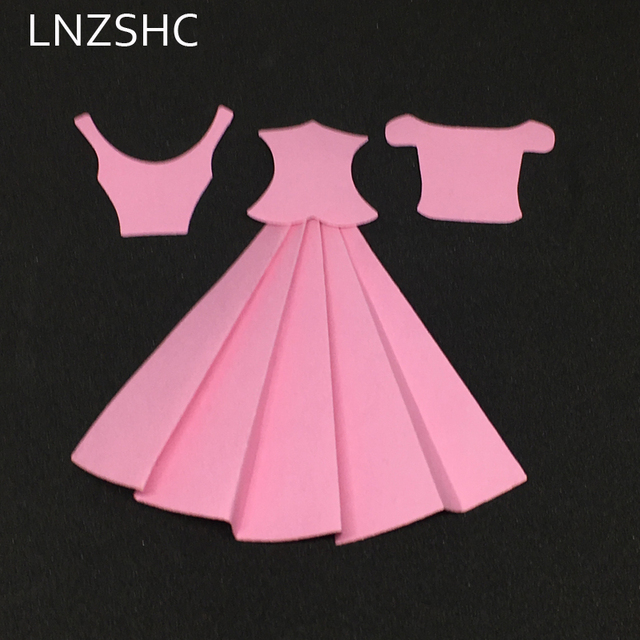 Princess Dress Metal Cutting Dies Stencils Scrapbooking Template Photo Album Embossing DIY Paper Card Making Crafts