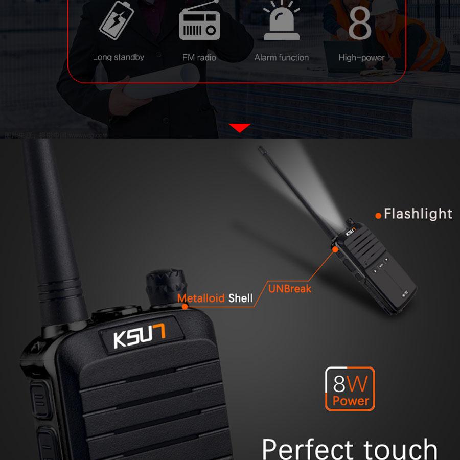 (2pcs) KSUN X-30 handheld walkie talkie portable radio 8W high power UHF Handheld Two Way Ham Radio Communicator HF Transceiver HTB1BbE8gdbJ8KJjy1zjq6yqapXai