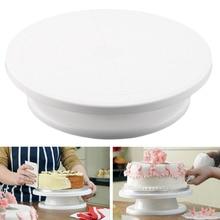 Ttlife 28 cm küche cake deco icing-friedliches drehteller tortenständer weiß kunststoff fondant backen werkzeug diy