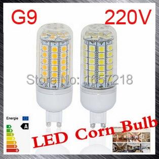 G9 led bulbs SMD 5050 15W LED Corn Bulb Ultra Bright LED Wall lamps 69 LEDs Ceiling light AC 200V 240V 1pcs/LOT 1x mini e14 led lamps 5050 smd 1w crystal chandelier 220v spotlight corn bulbs pendant fridge refrigerator light